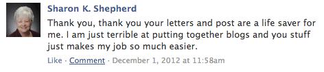 A little Facebook love.